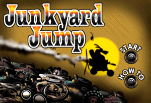 Junkyard Jump Title Screen